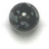 Semi-Precious 8mm Round Snowflake